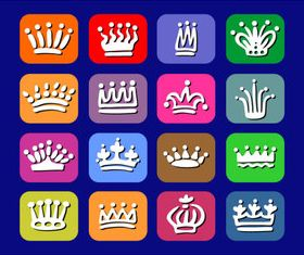 Imperial crown icons shiny vector