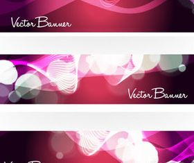 Abstract shiny banner vector material