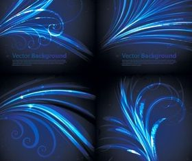 Blue feather background vector