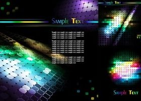 Colorful mosaic background shiny vector