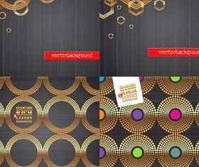Golden ring background vector