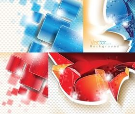 Three-dimensional background graphics vector graphic