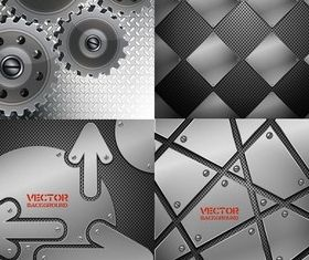 Metal texture background design vector