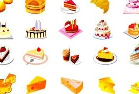Bright dessert vector graphic