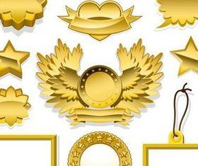 Gold Elements graphic vector