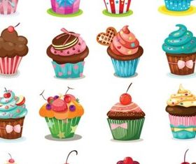 Different Sweet Cakes creative vector