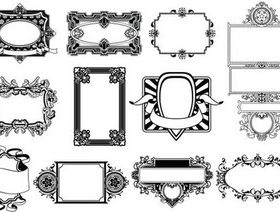 Swirl Ornament Frames vectors graphic