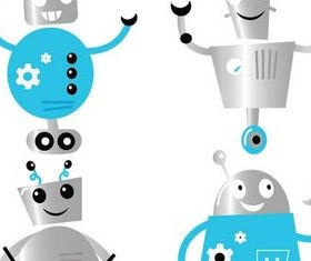 Cute Robots free design vectors