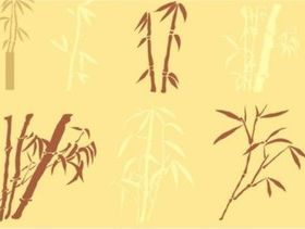 Different silhouette bamboo vector material
