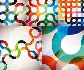 Bright arc background vector