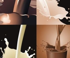 milk splash Effect vectors material