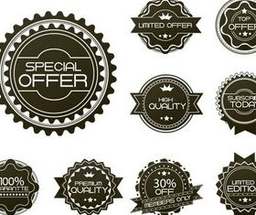 Shopping Stickers free vector design