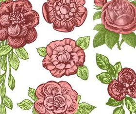 Ornate Roses free vector