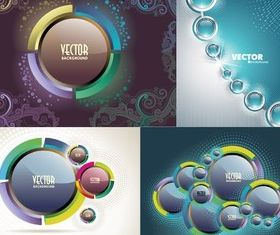 Crystal button background vector