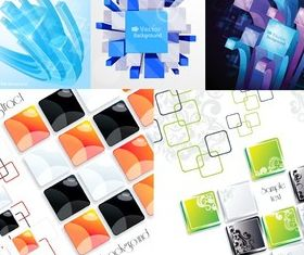 Different cube backgrounds vector