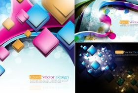 Colorful graphics background vector