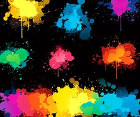 Color Splash backgrounds vector