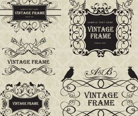 Vintage floral frames vectors graphics