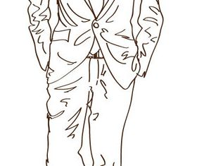 Hand drawn Suit vector