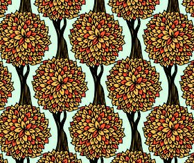 Color Plant Pattern shiny vector