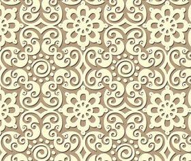 Paper floral pattern 1 vectors