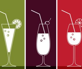 Drinks banner design vector