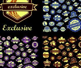 Colored floral labels vectors graphics