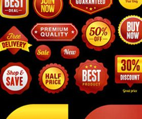 Sale labels free set vector