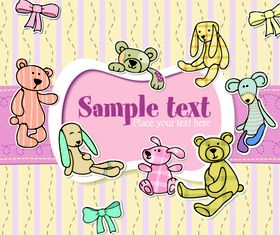 Cartoon cute text clouds 4 vector