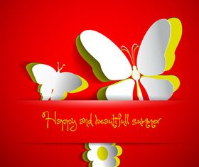 Beautiful Butterfly background 1 vector