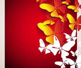 Beautiful Butterfly background 2 vector