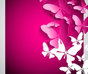 Beautiful Butterfly background 3 vector