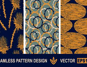 Vintage pattern designs vectors material