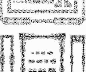 Black lace frames vector