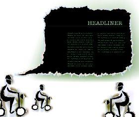 Tear Paper text cloud 2 vector design