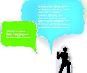 Tear Paper text cloud 3 vector design