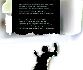 Tear Paper text cloud 4 vector design
