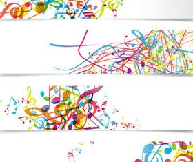 Abstract music banner vector