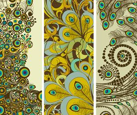 Vintage pattern benner 2 vector