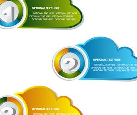 Number text cloud set vector
