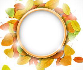 Autumn Leaf theme background 1 vector