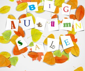 Autumn Leaf theme background 2 vector