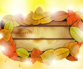 Autumn Leaf theme background 5 vector graphic