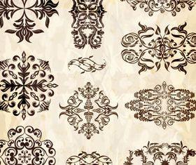 Retro floral accessories vector