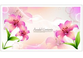 Beautiful Lily background 2 vectors material