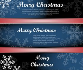 Christmas Snowflake banner vector graphics