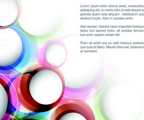 Colorful round background design vectors