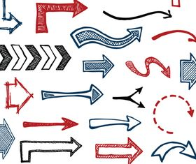 Hand-drawn arrow vectors