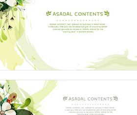Beautiful flower background 1 design vector