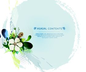 Beautiful flower background 2 design vector